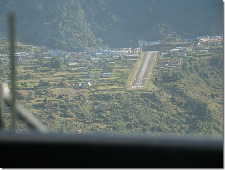 Arial view of Lukla Airstrip
