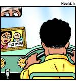 Pictures of Drivers Family Were Stuck on AP State Transport Buses(Courtesy TOI)